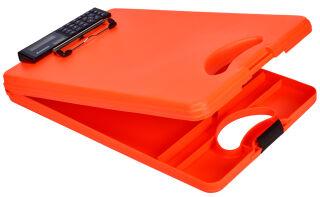 SAUNDERS Porte-bloc à pince 'DeskMate II Safety',orange fluo