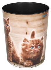 Läufer Corbeille à papier 'chats fouineurs'