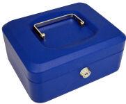 pavo Caisse à monnaie, bleu, (L)150 x (P)115 x (H)80 mm