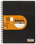 RHODIA Cahier rechange pour EXABOOK, A4+, quadrillé 5x5, noi