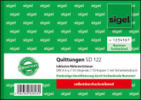 sigel Formularbuch 'Quittung', inkl. MwSt., DIN A6 quer