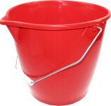 Peggy Perfect Seau avec un étrier, 12 litres, rouge