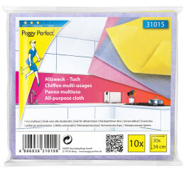Peggy Perfect Chiffon multi-usages non-tissé, paquet de 10