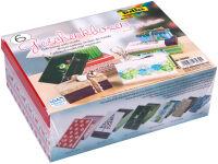 folia Kit de boîtes-cadeau 'Noel', imprimé, kit de 6