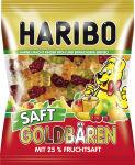 HARIBO Bonbons gélifiés aux fruits Ours d'or juteux, 175 g