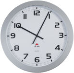 ALBA Horloge murale HORGIANT, montre à quartz, gris métal