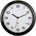 ALBA Horloge murale radiopilotée 'HORNEWRC N', noir
