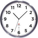 ALBA Horloge murale radiopilotée 'HOREXTRARC' blanc / argent