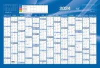 QUO VADIS Calendrier 2019, 650 x 430 mm horizontal, bleu