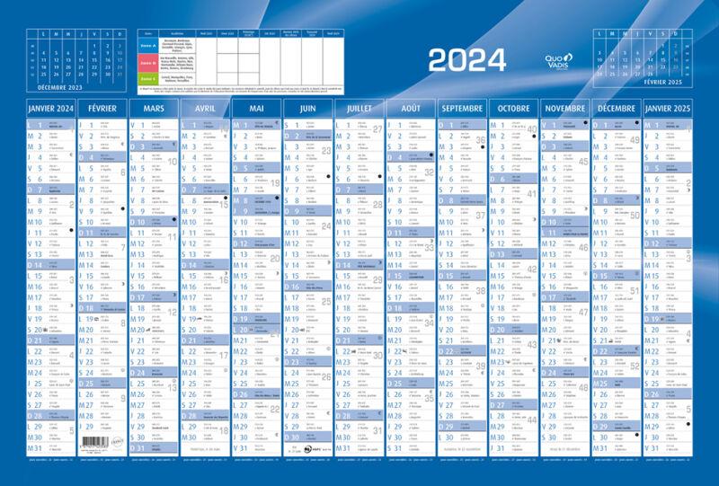 Achat Calendrier 2020.Quo Vadis Calendrier 2020 650 X 430 Mm Horizontal Bleu Au Meilleur Prix