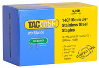 TACWISE Agrafes 140/10 mm, acier inoxydable, 5.000 pièces
