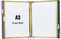 tarifold t-display Kit de présentation mural, métal, A3