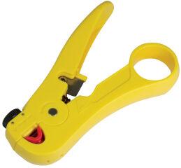 LogiLink Pince à dénuder avec coupe-câble, en ABS, jaune
