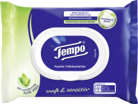 Tempo lingettes humides de toilette doux & soigneux, avec