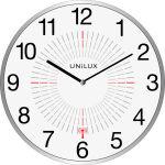 UNiLUX Horloge/horloge radio-pilotée 'OUTDOOR', argent,