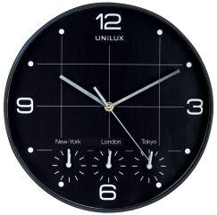 UNiLUX Horloge murale à quartz 'ON TIME', diamètre: 305 mm