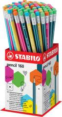 STABILO Crayon graphite Pencil 160 avec gomme, display de 72