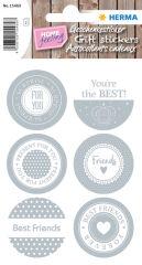 HERMA Sticker cadeau HOME 'Friends'