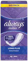 always Protège-slip Extra Protect Long Plus, pack promo
