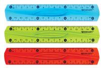 WESTCOTT Règle plate, plastique, longueur: 150 mm, souple