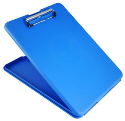 SAUNDERS Porte-bloc 'SlimMate', A4, bleu