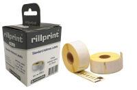 rillstab Rouleau d'étiquettes, 89 x 28 mm, blanc