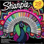 Sharpie Marqueur permanent FINE, BIG PACK de 28 'Paon'
