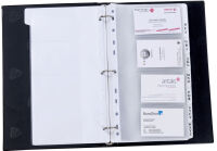 Accessoire, ALBA Pochette pour cartes de visites, pour 8 cartes, 1 rang