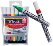 SAKURA Marqueur permanent Pen-Touch Moyen, étui de 6
