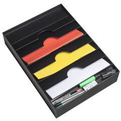 PAPERFLOW Organiseur de tiroir, 6 compartiments, noir