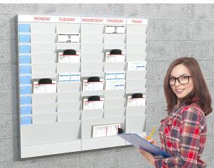 PAPERFLOW Planificateur de bureau mural, 20 casiers, A5