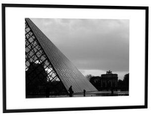 PAPERFLOW Cadre photo en aluminium, (L)500x(H)700 mm, noir