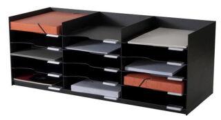 PAPERFLOW Station de tri Formularbox, 15 compartiments, noir