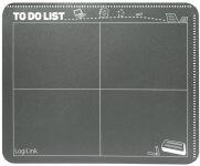 LogiLink Tapis de souris design calendrier, avec poche