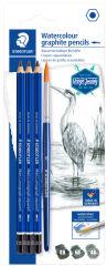 STAEDTLER Kit de crayons graphite Mars Lumograph aquarell
