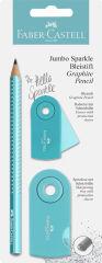 FABER-CASTELL Kit d'écriture Jumbo GRIP SPARKLE Pearl