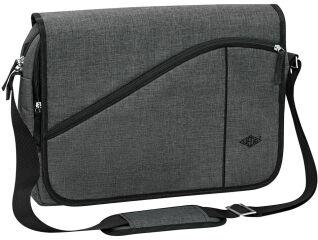 WEDO Sacoche pour notebook Messenger Bag COLLEGE, gris