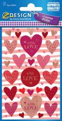 AVERY Zweckform ZDesign Stickers cadeaux 'Love'