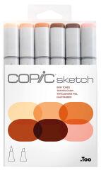 COPIC Marqueur sketch, kit de 6 'Skin Tones'