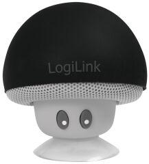 LogiLink Mini haut-parleur bluetooth 'Mushroom', noir