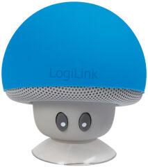 LogiLink Mini haut-parleur bluetooth 'Mushroom', bleu