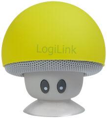 LogiLink Mini haut-parleur bluetooth 'Mushroom', jaune
