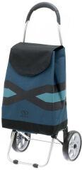SECC Chariot de course 'Geometrix', 28 litres, noir / bleu
