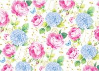 SUSY CARD Papier cadeau 'Jardin de roses', sur rouleau