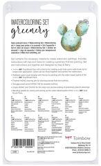 Tombow Kit pour aquarelle 'Greenery', 11 pièces
