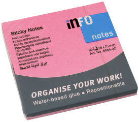 inFO notes Note repositionnable Brillant Sticky Notes