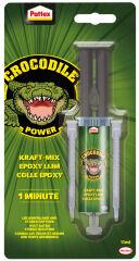 Pattex Crocodile Power Colle à 2 composants Kraft-Mix