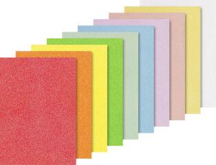 HEYDA Set cartons à paillettes 'Iris', A4, 200 g/m2, par 10