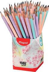 Maped Crayon BLACK'PEPS PASTEL, dureté : HB, pot de 72