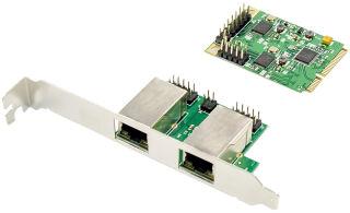 DIGITUS Carte réseau mini PCI Express Dual Gigabit Ethernet